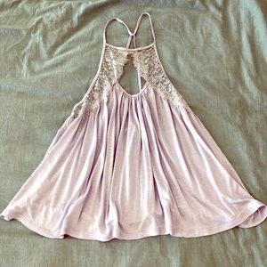 urban Outfitters — purple flowy top